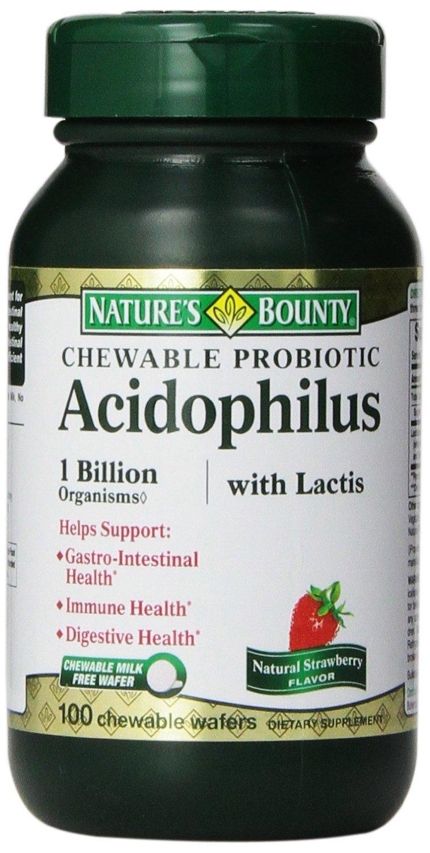 Chewable Probiotic Acidophilus Nature S Bounty