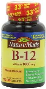 Nature Made Vitamin B12 Time Release Tablets