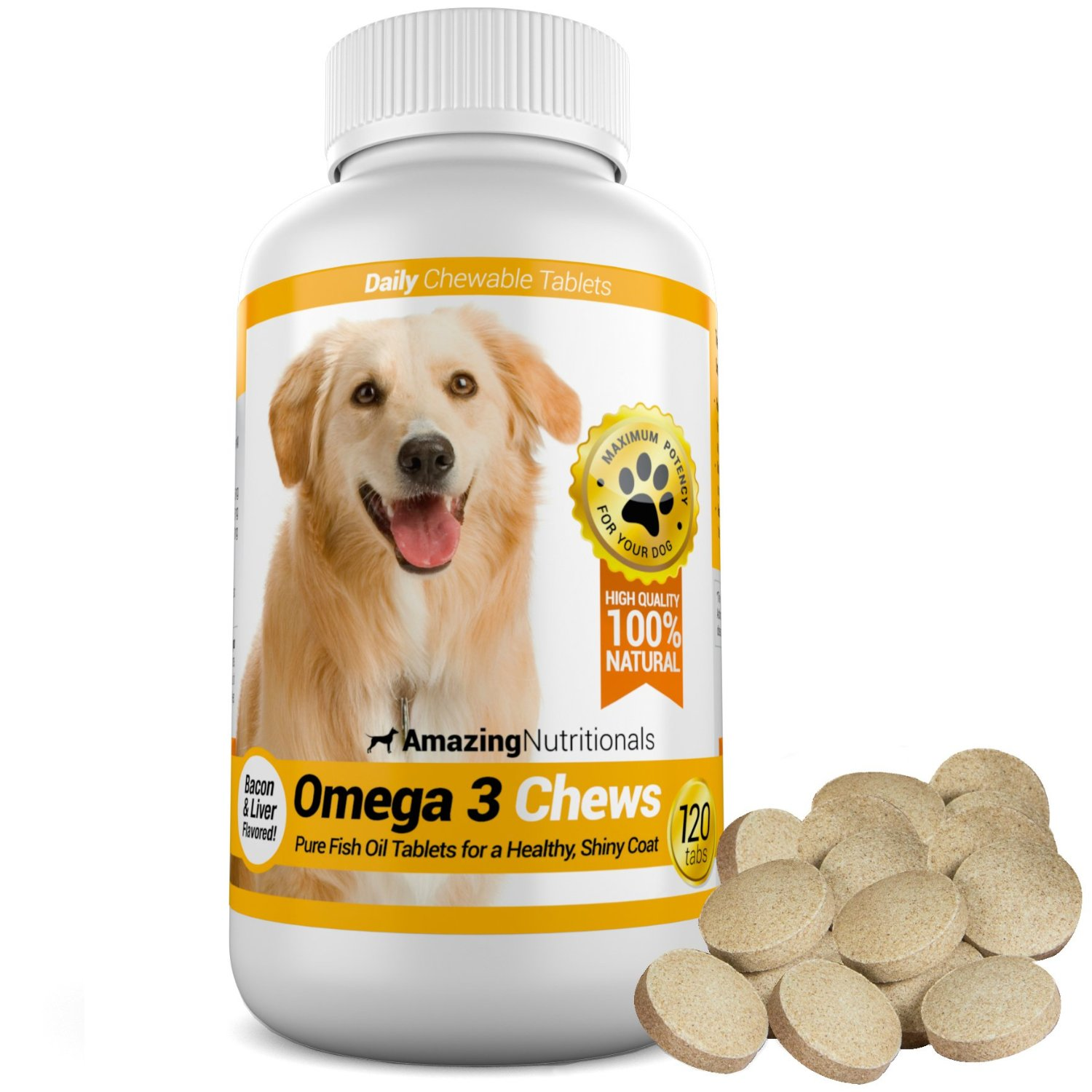 Best fish oil for dogs review pronutrics for Fish oil capsules for dogs